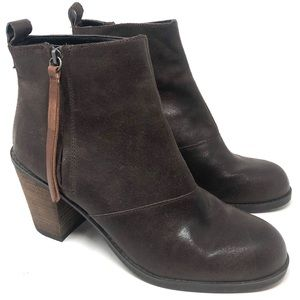 DV Dolce Vita Brown Leather Ankle Boots Size 10